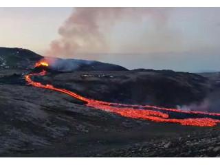 Камера Wisenet засняла извержение вулкана в Исландии